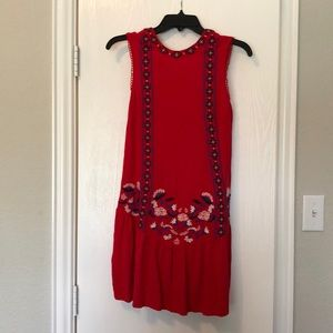 Xhiliration red boho dress